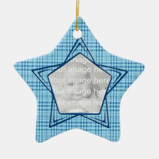 Keepsake Blue Baby's First Christmas Ornament