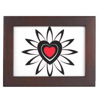 Keepsake Box , flower, with hearts.