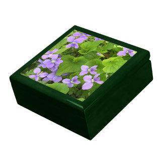 Keepsake Box - Herb Violets