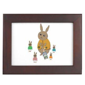 Keepsake Box with rabbits