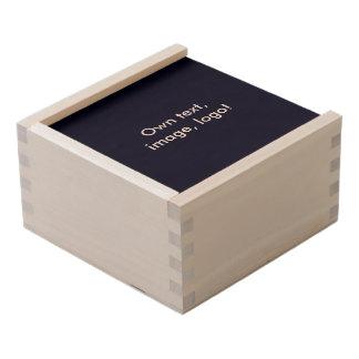 Keepsake Box Wood uni Dark Blue