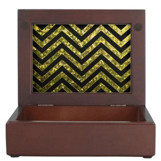 Keepsake Box Zig Zag Sparkley Texture