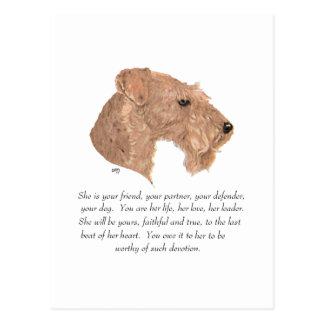 Keepsake, Female Dog Postcard