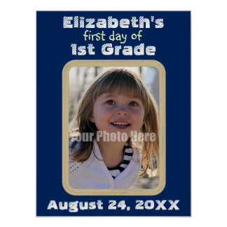 Keepsake First Day of School Custom Photo Poster