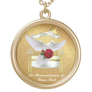 Keepsake Memorial Neck Lace Male Gold Plated Necklace