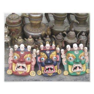 Nepal Deity Masks Print