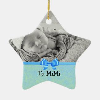 Keepsake Ornament for Baby Boy to Mimi