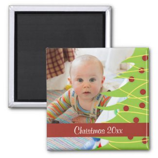 Keepsake Photo Christmas Tree Personalized Magnet