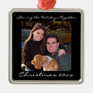 Keepsake Silver Photo Christmas Ornament w/Message