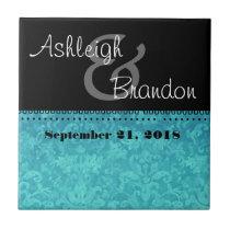 Keepsake Wedding Favor Damask Tile