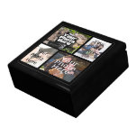 Keepsake Wood Jewelry/Valet Box, 4 Photo Collage Gift Box