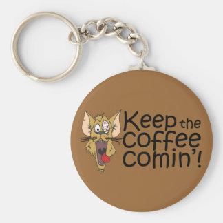 Keepthecoffeecomin',Keychain Basic Round Button Keychain