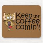 Keepthecoffeecomin', Mousepad Alfombrillas De Ratones