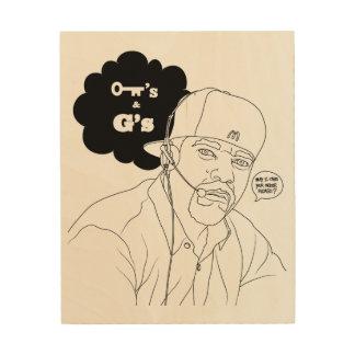 Kees & Gees Wood Print