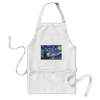 kees-Gogh-Starry-Night Adult Apron
