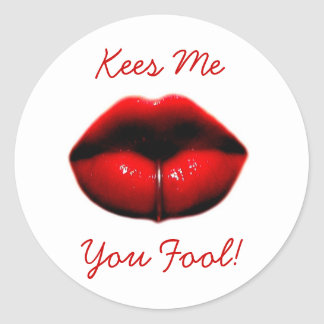 Kees Me You Fool! Classic Round Sticker