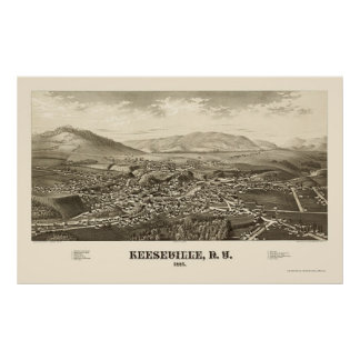 Keeseville, New York Panoramic Map - 1887 Posters