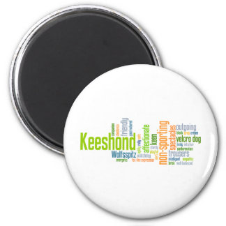 Keeshond 2 Inch Round Magnet