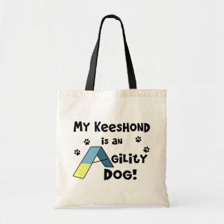 Keeshond Agility Dog Budget Tote Bag
