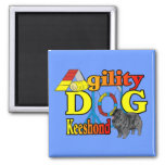 Keeshond Agility Gifts 2 Inch Square Magnet
