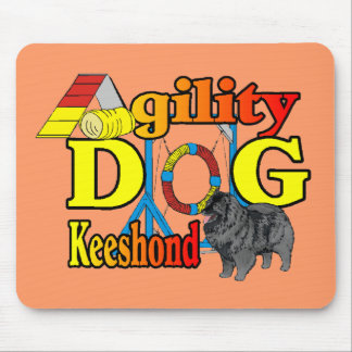 Keeshond Agility Gifts Mouse Pad