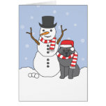 Keeshond and Snowman Cards