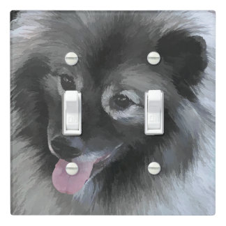 Keeshond (Bailey) Light Switch Cover