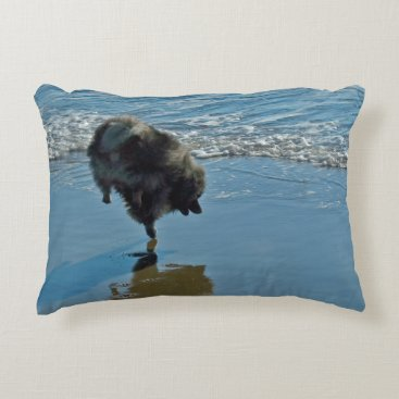 Beach Themed Keeshond Ballet Accent Pillow