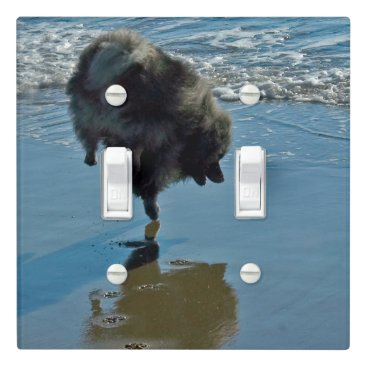 Keeshond Ballet Light Switch Cover