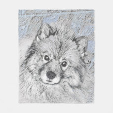 Keeshond (Beth) Fleece Blanket