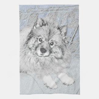 Keeshond (Beth) Kitchen Towel