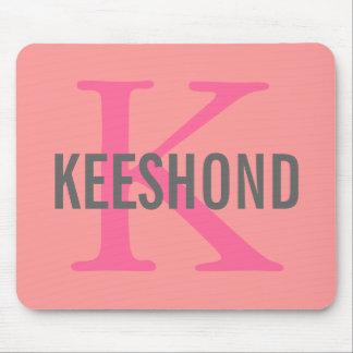 Keeshond Breed Monogram Design Mouse Pad