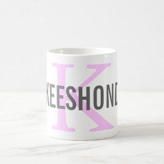 Keeshond Breed Monogram Design Coffee Mug