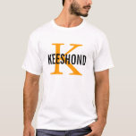 Keeshond Breed Monogram Design T-Shirt