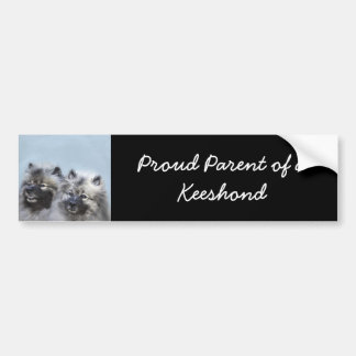 Keeshond Brothers Bumper Sticker