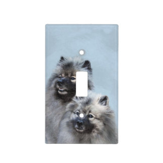 Keeshond Brothers Light Switch Cover