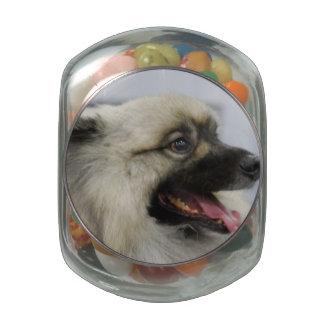 Keeshond Glass Candy Jars