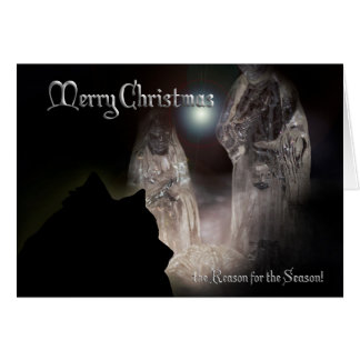 Keeshond Christmas card