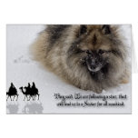 "Keeshond Christmas card ""Three Wise Men"""