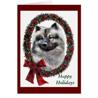 Keeshond Christmas Gifts Card