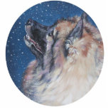 "Keeshond Christmas Ornament<br><div class=""desc"">from an original painting by L.A.Shepard</div>"