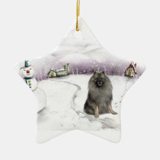 keeshond Christmas ornament