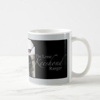 keeshond coffe mug, Lone Keeshond Ranger
