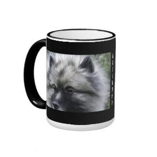 Keeshond coffee cup mug