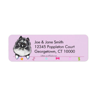 Keeshond Cute Dangles Thistle Label