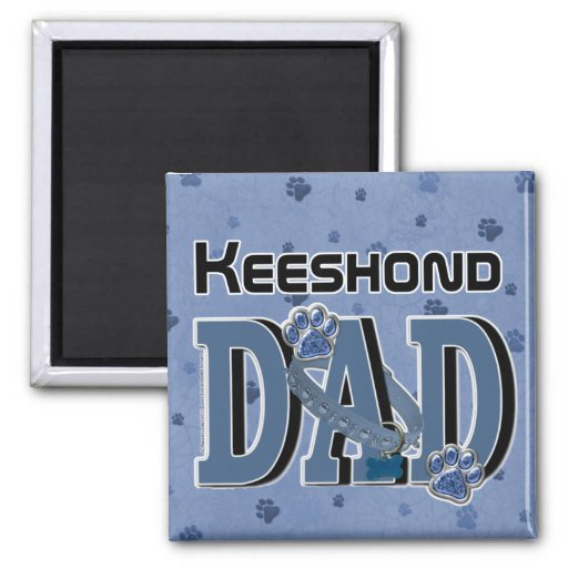 Keeshond DAD 2 Inch Square Magnet