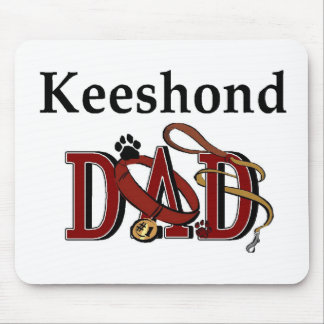 Keeshond Dad Gifts Mouse Pad