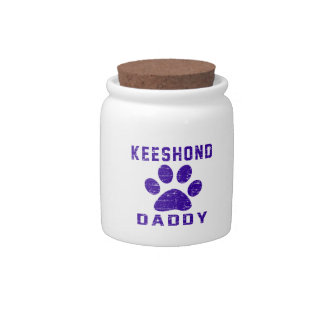 Keeshond Daddy Gifts Designs Candy Dish