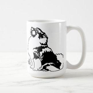 Keeshond de la obediencia taza de café