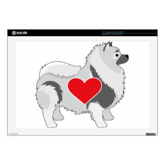 """Keeshond Decal For 17"""" Laptop"""